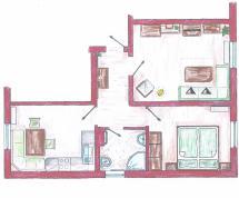 Ferienwohnung 1 | 2 – 4 Personen (ca. 50m²)